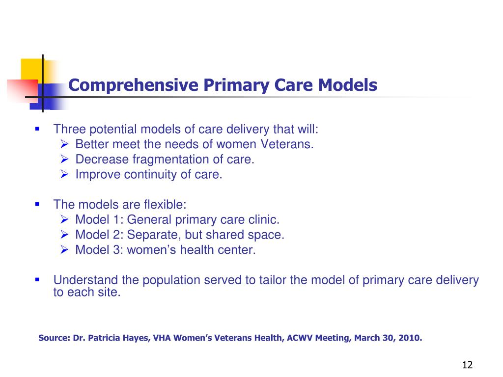 Comprehensive Primary Care Models