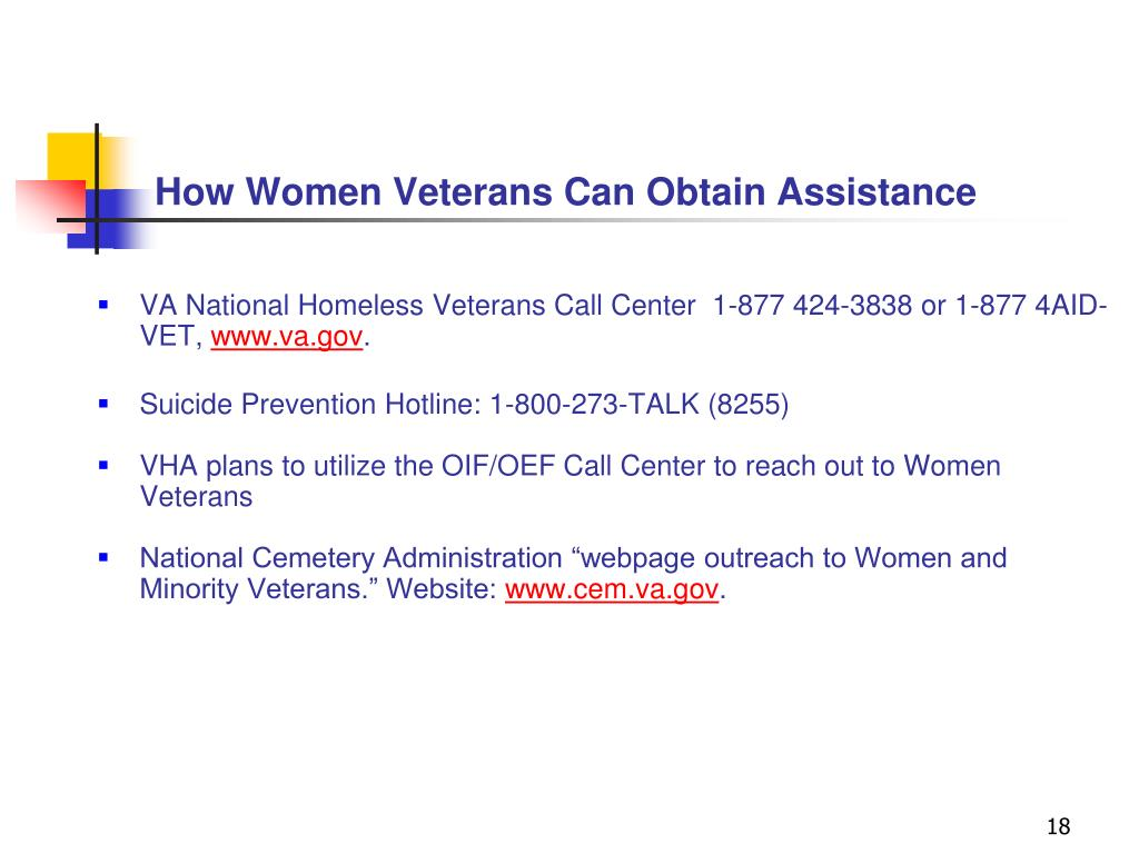 How Women Veterans Can Obtain Assistance