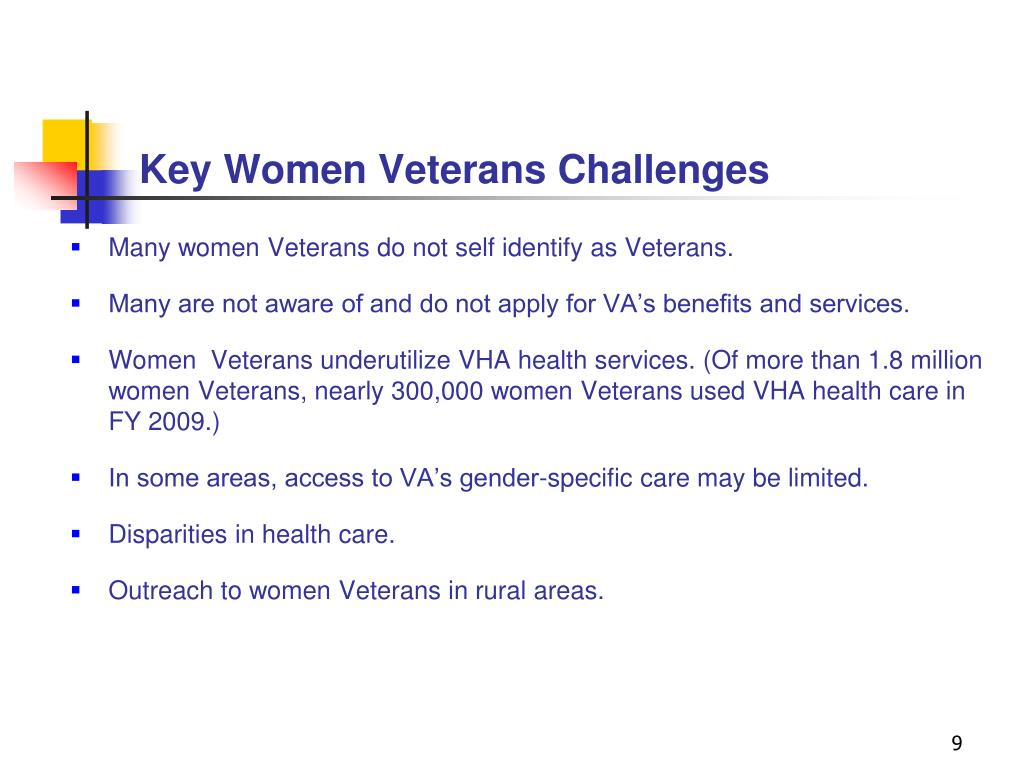 Key Women Veterans Challenges
