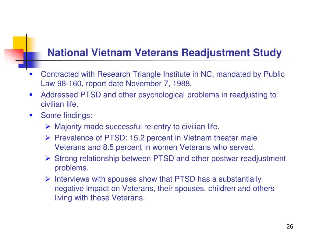 National Vietnam Veterans Readjustment Study