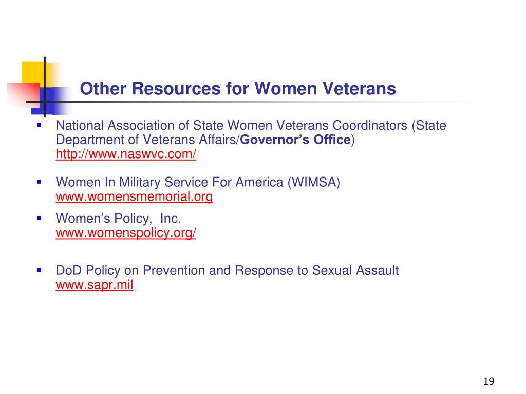 Other Resources for Women Veterans