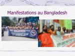 manifestations au bangladesh