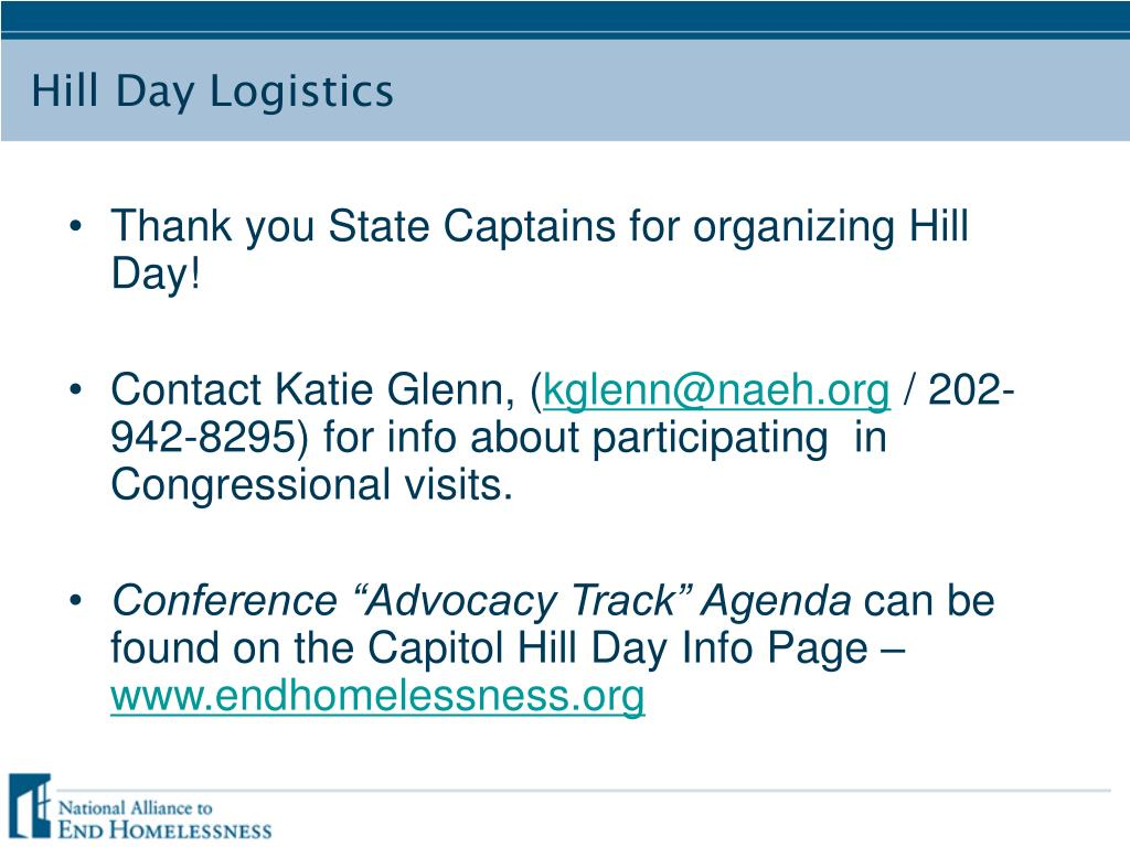 Thank you State Captains for organizing Hill Day!