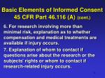 basic elements of informed consent 45 cfr part 46 116 a cont1