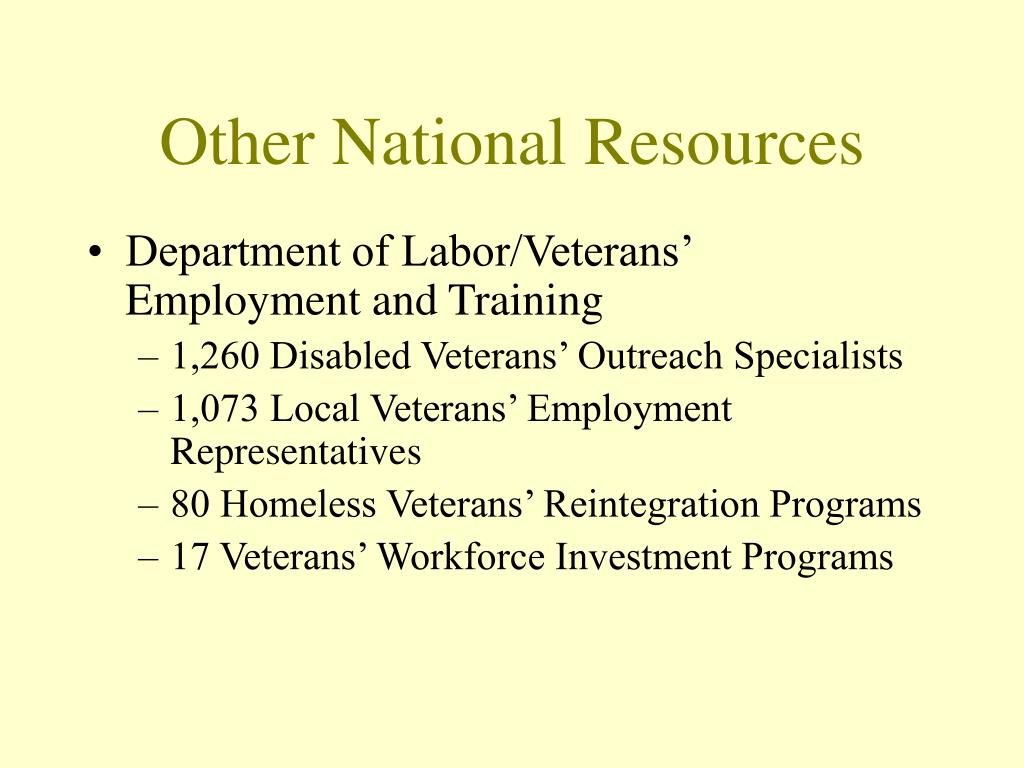 Other National Resources