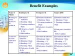 benefit examples