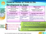 general status of mold die development in japan