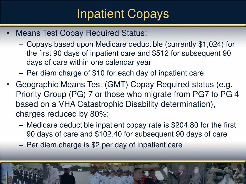 Inpatient Copays