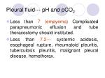pleural fluid ph and pco 2