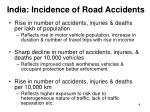 india incidence of road accidents