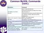 common mysql commands cont2