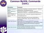 common mysql commands cont5