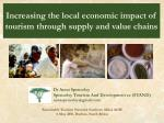 increasing the local economic impact of tourism through supply and value chains
