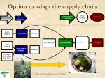 option to adapt the supply chain