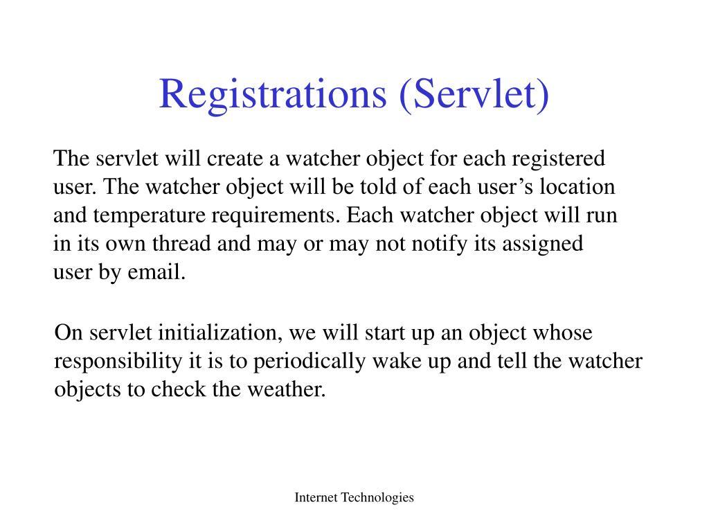 Registrations (Servlet)