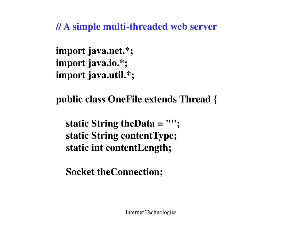 // A simple multi-threaded web server