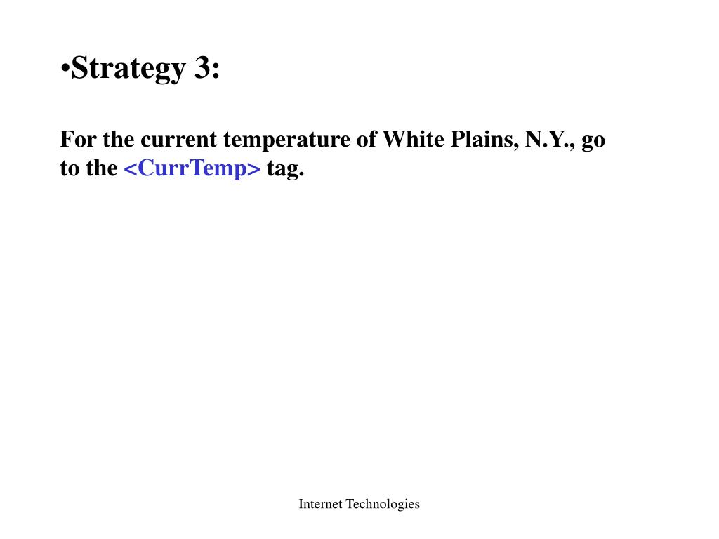 Strategy 3: