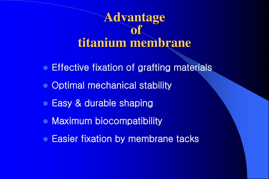 PPT - Guided bone regeneration with titanium membrane : A