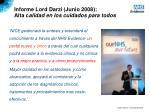 informe lord darzi junio 2008 alta c alidad en los cuidados para todos