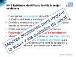 nhs evidence identifica y facilita la mejor evidencia