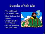 examples of folk tales