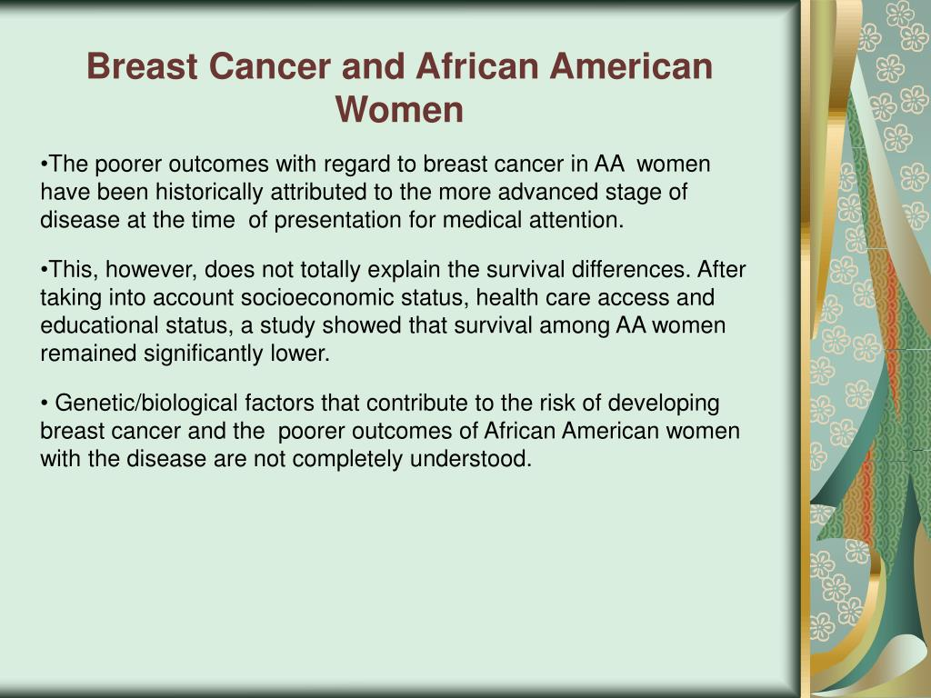 Breast Cancer and African American Women