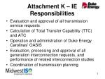 attachment k ie responsibilities