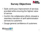 survey objectives