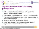 arguments for enhanced civil society participation