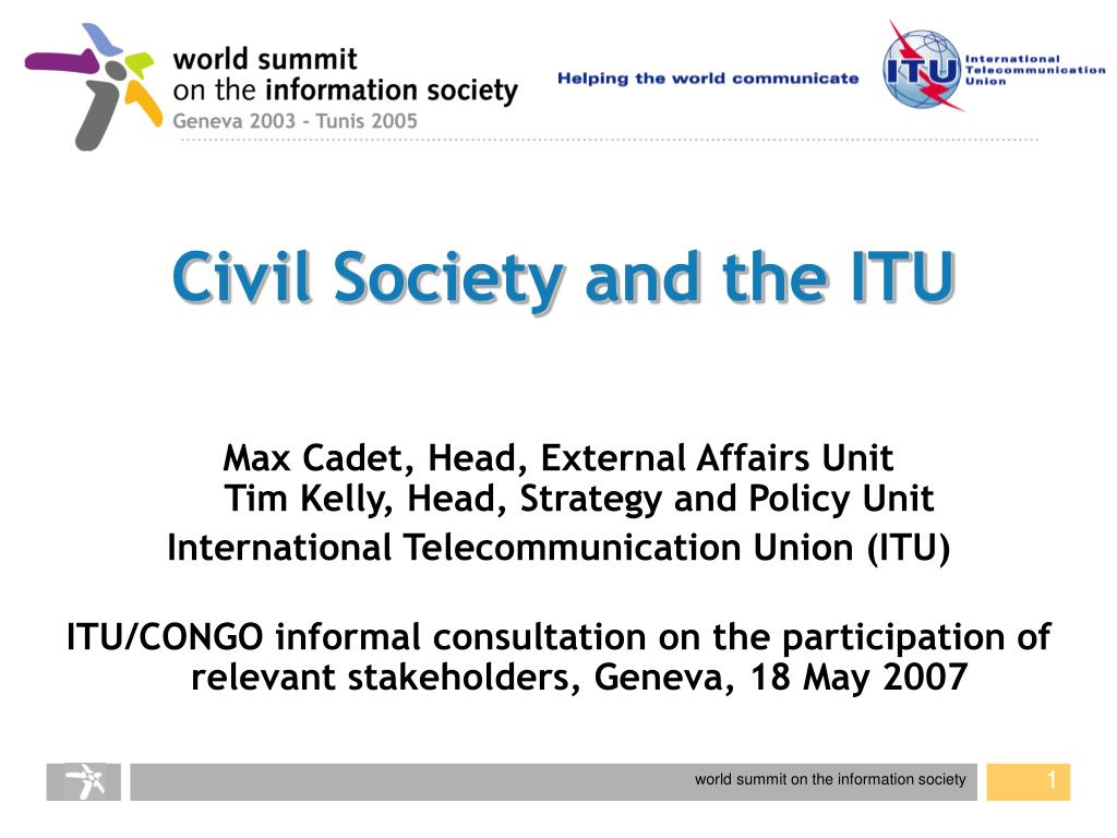 civil society and the itu l.