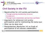 civil society in the itu