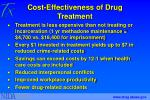 cost effectiveness of drug treatment