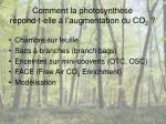 comment la photosynth se r pond t elle l augmentation du co 2