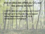 voit on d j des effets du co 2 sur des arbres de for t