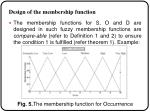 design of the membership function