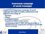 awareness campaign of social messages