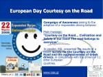 european day courtesy on the road