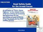 publications road safety guide for the armed forces
