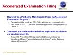 accelerated examination filing