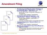 amendment filing