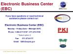 electronic business center ebc