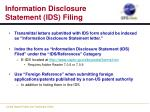 information disclosure statement ids filing