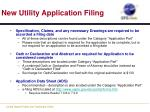 new utility application filing