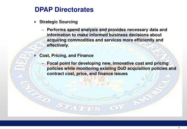 DPAP Directorates