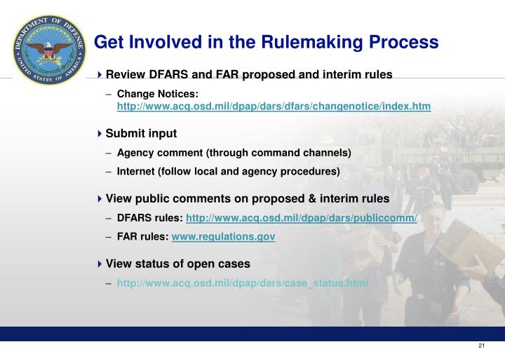 Get Involved in the Rulemaking Process