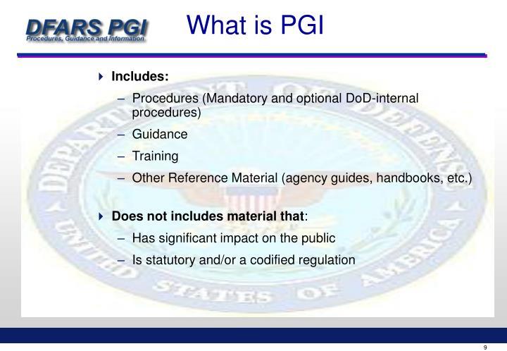 What is PGI