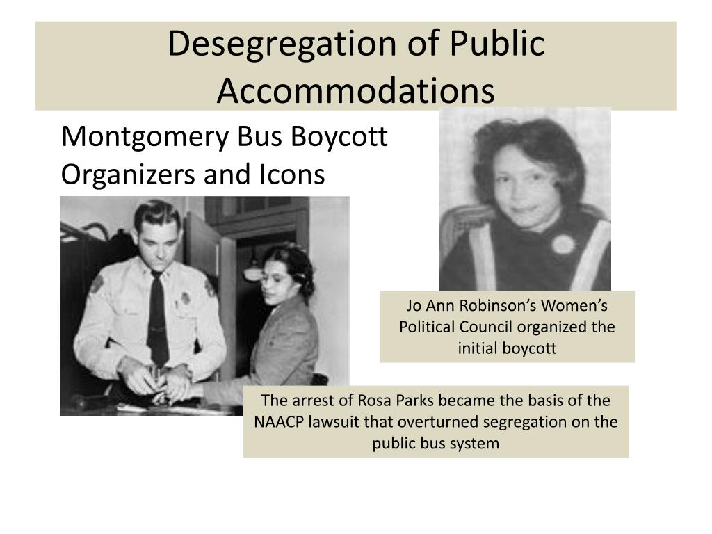 Desegregation of Public Accommodations