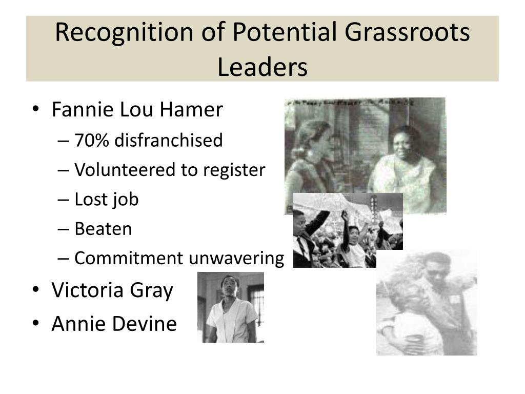 Recognition of Potential Grassroots Leaders