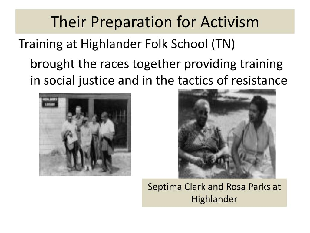 Their Preparation for Activism