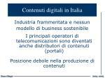 contenuti digitali in italia